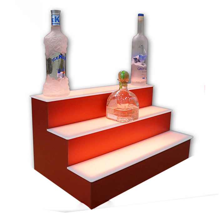 2 Step Acrylic LED Lighted Bar Shelves with LED