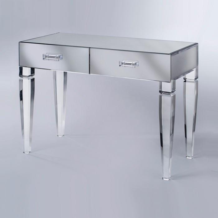 ACRYLIC SEX WOMEN USEFUL TABLE WITH 2 DRAWER LIVING ROOM FURNITURE