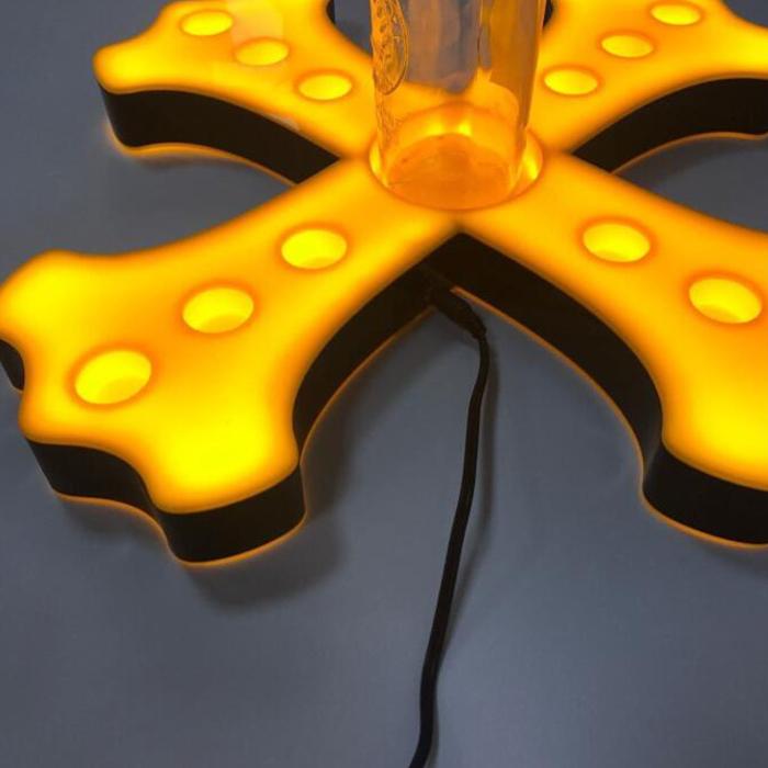 Led acrylic Single wine rack Custom acrylic wine rack LED lighted liquor bottle glorifier display