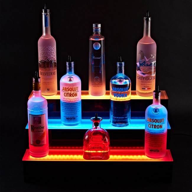New Arrival Counter LED Acrylic Wine Display,LED Wine Bottle Display